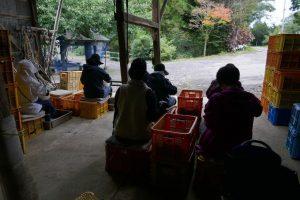 山ぶどう農家さんのお手伝いで、野田村に言った時。選果のお手伝いをしながら、もう、記憶出来ないほどの、「世間話」を話してくださいました。