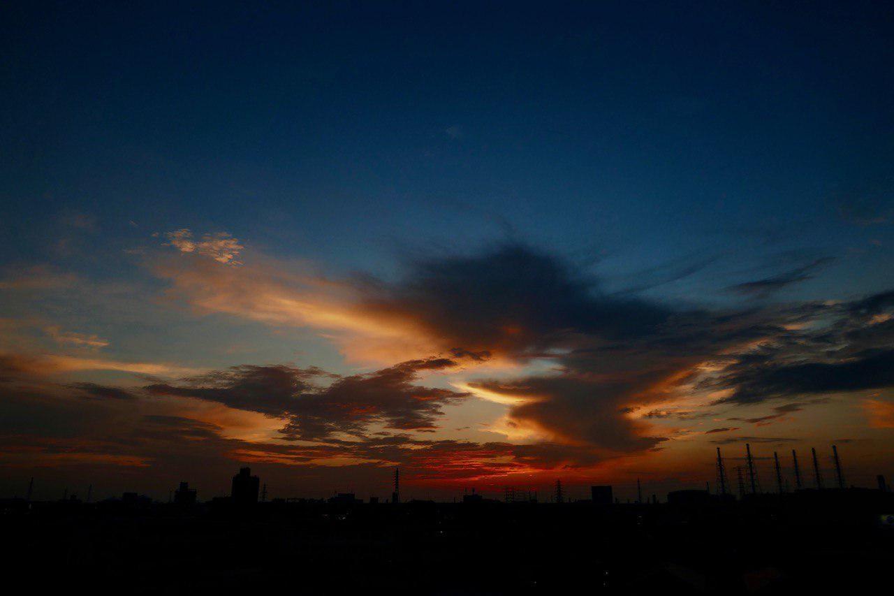 自宅近くから見た夕焼け