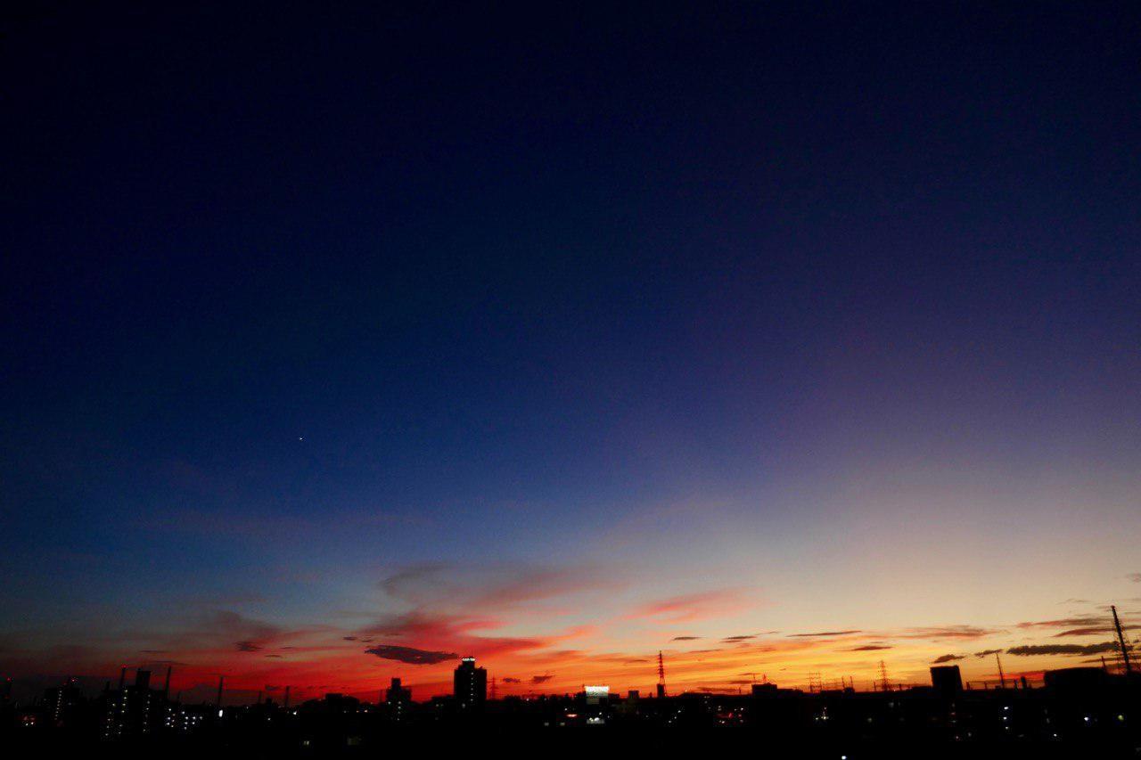 近隣から見た夕焼け