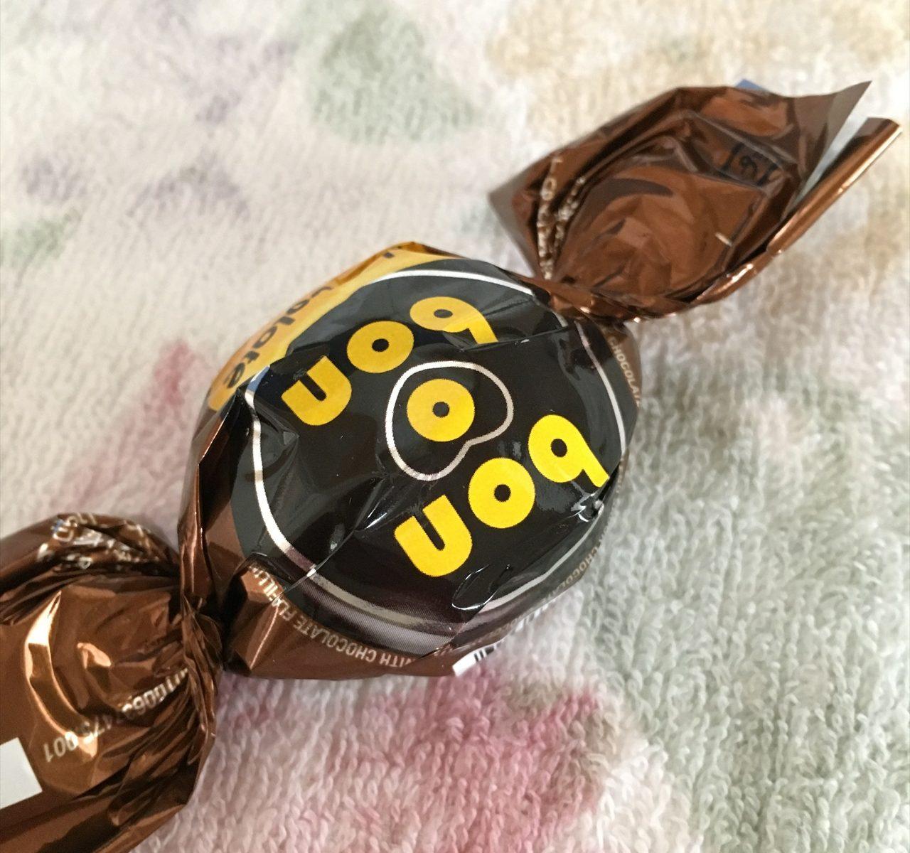 ボノボンチョコレートです。はじめて食べました。