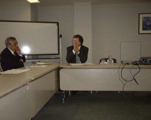 シュミットハウゼン博士。 左は、世界的には、日本最高の仏教学者と評価された故・梶山雄一先生。とても、かわいがってくださいました。