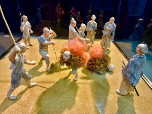 「蓑踊り」年貢が払えない領民を、松倉家はこのように焼死させました。南有馬の記念館にて。著者撮影。