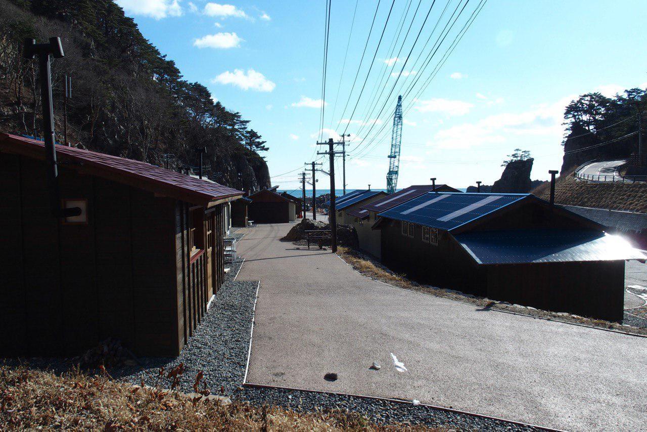 田野畑村、机浜の歴史的文化遺産、漁師番屋群。津波で完全に破壊され、地元の方々が復活に尽力されています。