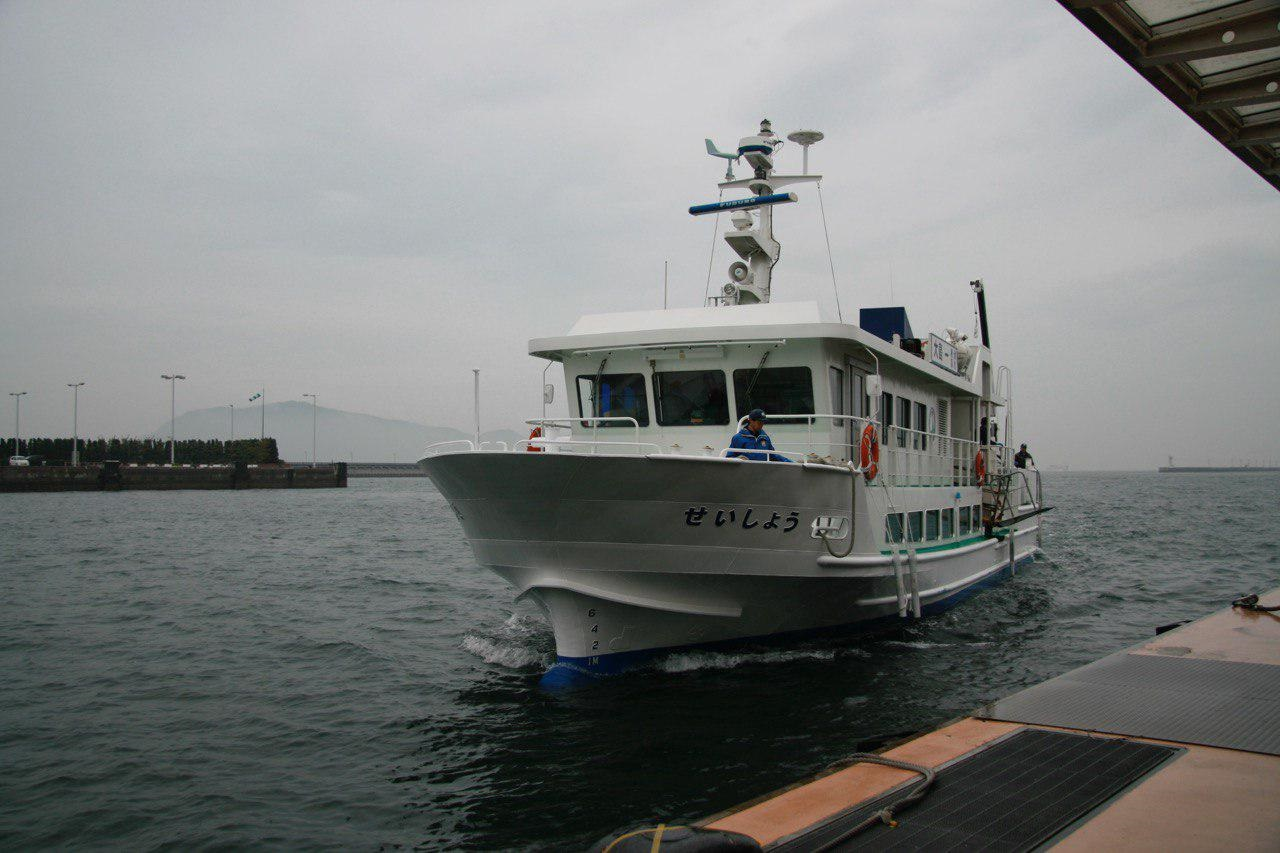 国立療養所大島青松園で。高松港と園を結ぶ療養所専用船