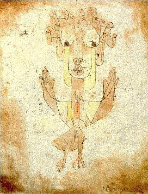 パウル・クレー 『新しい天使(Angelus novus)』1920