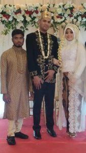 結婚式の写真も送ってくれた。