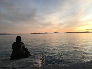 クロアチアの海で